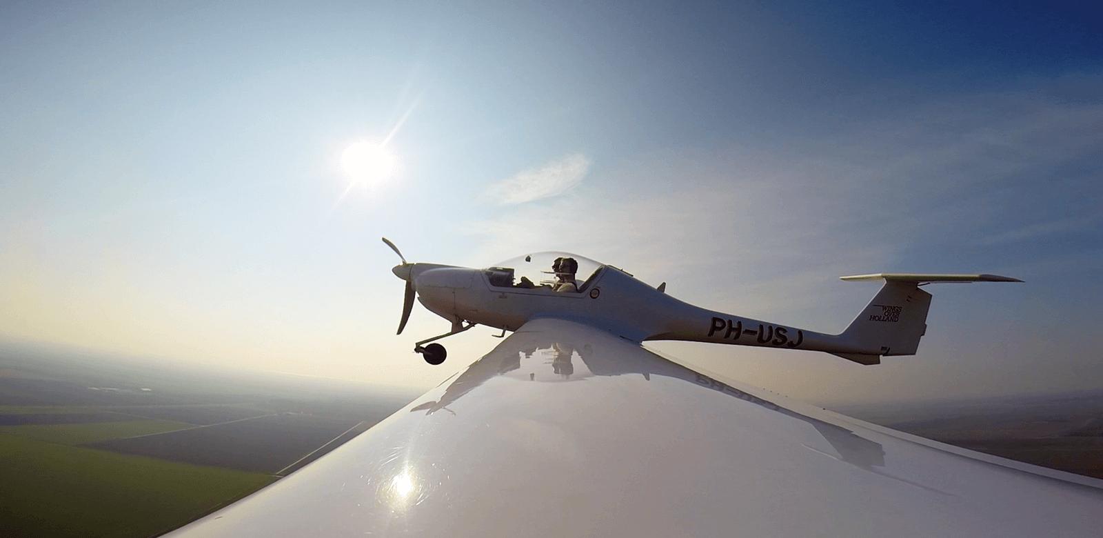 Proefles vliegen bij Wings over Holland