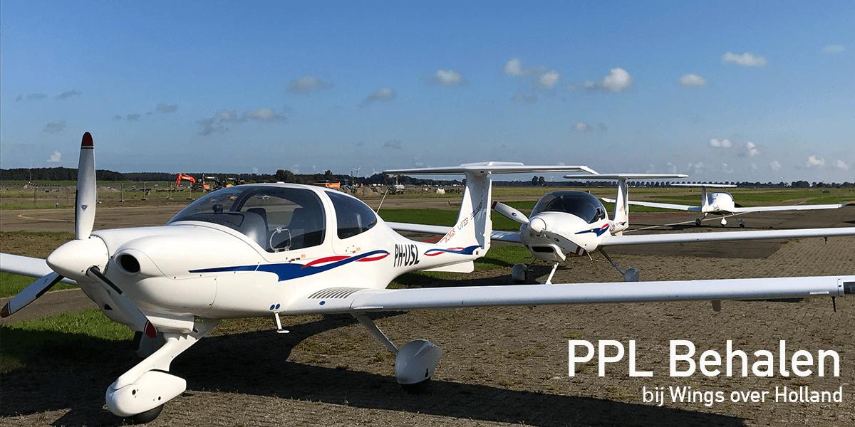 PPL vliegbrevet halen en leren vliegen bij Wings over Holland